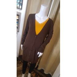 Gilet long marron St Martins