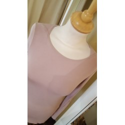 Tee shirt basique rose pale...
